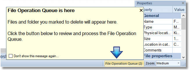 File Operation Queue - The button