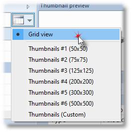 Change size of thumbnails