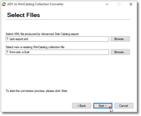 Advanced Disk Catalog to WinCatalog Converter Step 2
